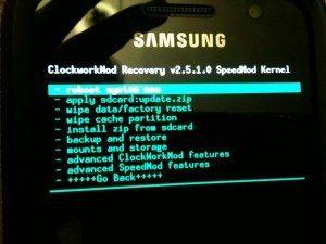 galaxy s cwm recovery 300x225 Samsung Galaxy S (İ9000); Clockworkmod Recovery Yükleme İşlemi