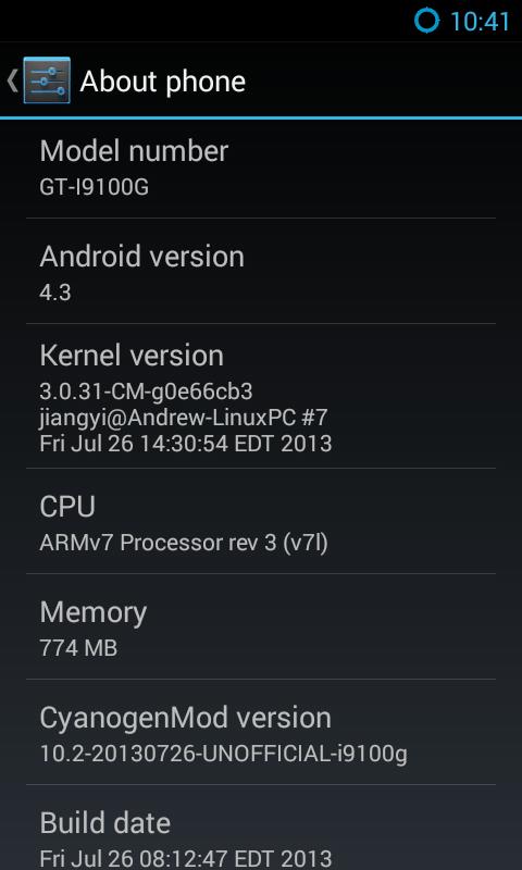 [ROM][GT-I9100G][JB][4.3.0] CyanogenMod 10.2 Sürümünü İndir, Yükle