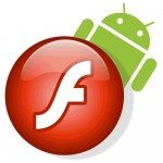 Adobe Flash Logo with Android Logo 150x150