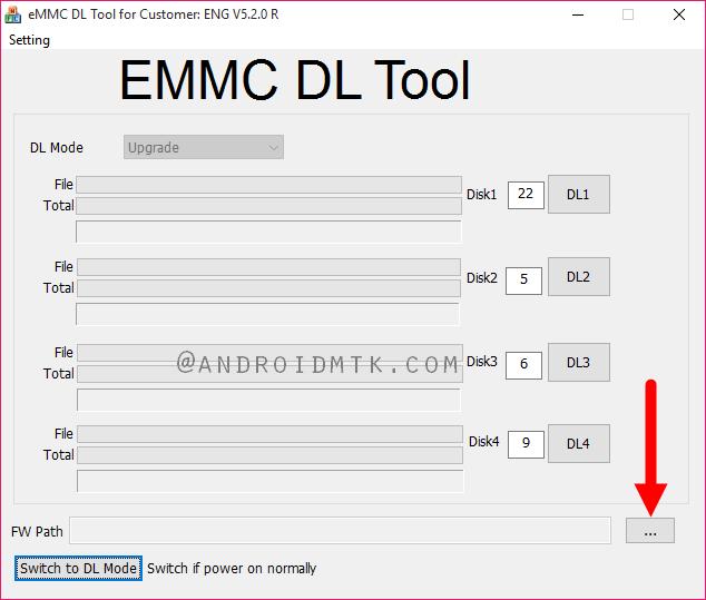 Müşteri için eMMC DL Aracı Başlatıldı
